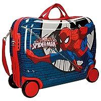 Preparate il vostro piccolo supereroe per affrontare una nuova avventura con questa valigia cavalcabile di Spiderman con bande elastiche interne su entrambi i lati per migliorare l'organizzazione.Questa valigia cavalcabile di Spiderman vi las...