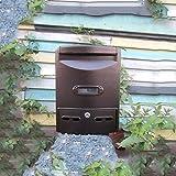 CKH Mailbox Regensicher Wasserdichte Outdoor Mailbox General Manager Vorschlag Box Outdoor Europäischen Wandbehang Nachricht Box mit Lock Mailbox