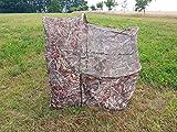 SUTTER Tente et Chaise de Chasse camouflé | Hutteau Rapide (Duck Blind) pour Chasse à l'oie et au Canard | Camo Chaise Cacher d'affût