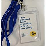 Face Mask Exemption Cards, Lanyard, Face Cover Exemption, Health ID Card With Lanyard