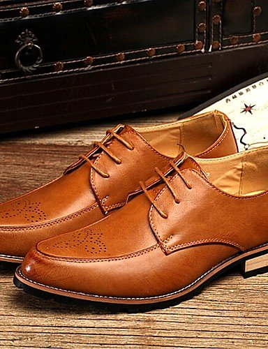 Chaussures d'hommes et de l'emploi de bureau/Oxford Cuir Casual Black/Brown/Bourgogne Bourgogne
