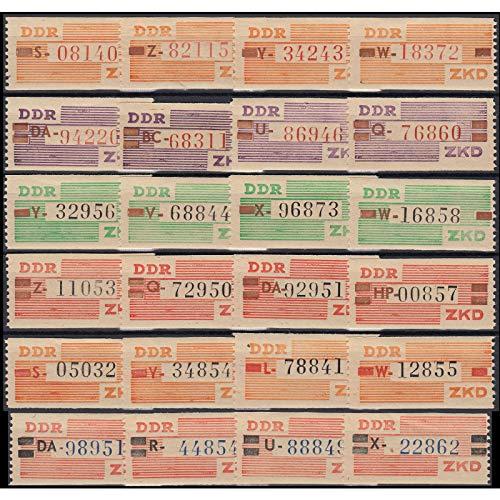 Goldhahn DDR Dienstmarken B Nr. V-X ** mit 4 ver. Kennbuchstaben Briefmarken für Sammler