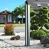 Thorwa® Design LED Lichtsäule Lichtstele Lampe Wegeleuchte Pylon - H: 110cm – für außen (Lichtfarbe: warmweiß) Wegleuchte/Außenleuchte