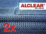 ALCLEAR 820901 Panno in Microfibra, Asciugatura perfetta, Dimensioni: 60 x 40 cm, Navy, Set di Due