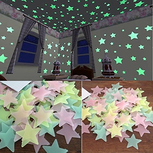 ndsticker Leuchtaufkleber Leuchtsticker (Mehrfarbig) ()