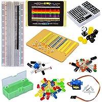 tolako componente elettronico Starter Kit per Arduino basetta,, LED Dot Matrix, Resistore, Condensatore, Breadboard