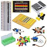 Tolako componente elettronico starter kit per Arduino breadboard, LED, dot Matrix, resistenza, condensatore, breadboard
