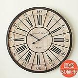 Y-Hui Das antike römische Uhr Industrial Metal Wanduhr Französisch große Runde Uhr Durchmesser 60 cm