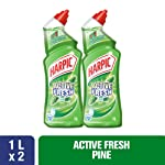 Harpic Toilet Cleaner Liquid Active Fresh Pine 1L Twin Pack