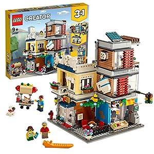 LEGOCreatorNegoziodegliAnimali&Café3in1,SetdiMattonciniGiocattolocon3Minifigure,FiguredelCane,delTucanoedelTopodaCostruire,31097 LEGO