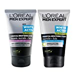 L'Oreal Paris Men Expert Valentine's Day Gift Set, 200 g (Pack of 2) with Charcoal Facewash + Charcoal Scrub