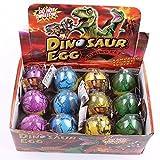 J Robin 12 Teile / satz Dinosaurier Dino Schlüpfen Ei Expansion Wachsenden Wasser Magie Spielzeug Spaß Geschenk für Kinder Ostern Dekoration Ei Farbe Zufällig (L)