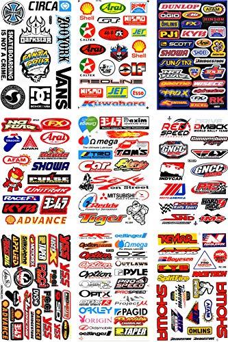 by soljo Conjunto de 9 Sponsors Hoja Racing Decal Sticker Tuning Racing...