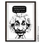 """Einstein""""Stress"""" - Kunstdruck ungerahmt, DIN A4"""