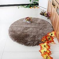 HDWN Super morbido ispessimento computer sedia girevole salotto camera da letto circolare tappeto stuoia protezione ambientale R120 R160 R200 , camel , diameter 160