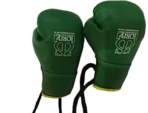 Lordz Car Key Ring Boxing Gloves with Mexican Lace Style Hanging in Car Mirror Key Ring