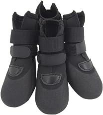 Leoie 4PCS Pet Dog Waterproof Rain Shoe Anti-Slip Wear-Resistant Boot Paw Protector