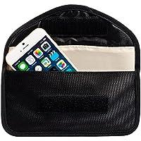 ECENCE RFID Strahlenschutz-Tasche Handy Smartphone No-Signal Funk Stop Tasche Schwarz 11030204