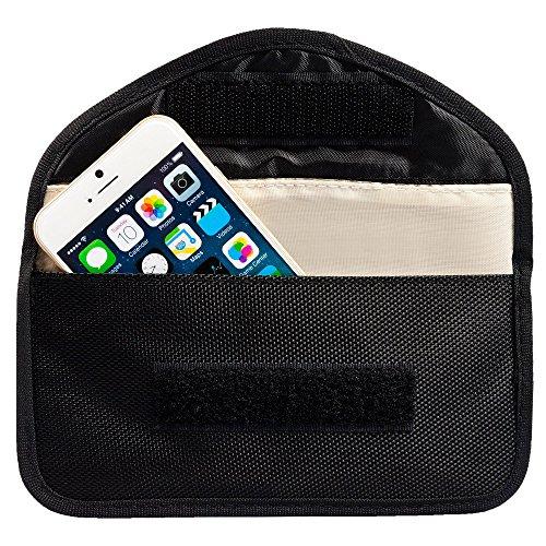 ECENCE RFID Strahlenschutz-Tasche Handy Smartphone No-Signal Funk Stop Tasche Schwarz 11030204 -