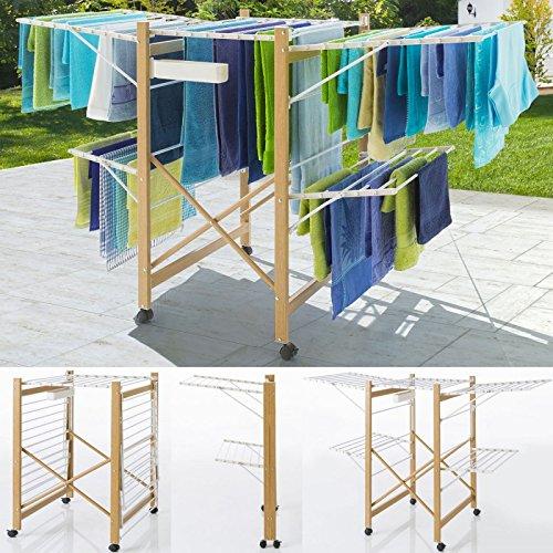 probache-schoir-deluxe-design-imitation-bois-tendoir-extensible-pliable