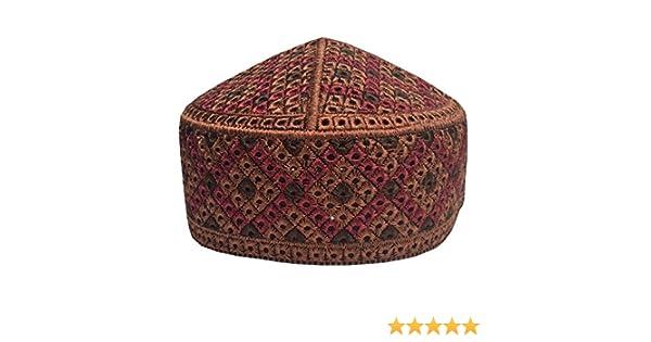 K Caps Eid Namaz Topi Koofi Muslim Men s Solid Cut Work Design Kufi Prayer  Cap Hat(Bronze)  Amazon.in  Sports 9bf9697e5c