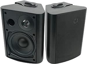Herdio 5 25 200 W Bluetooth Waterproof Outdoor Speaker Indoor Outdoor Patio Deck All Weather Speaker Wall Bracket System Black Mp3 Hifi