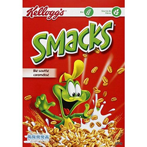 kellogg's Céréales smacks, blé soufflé caramélisé - ( Prix Unitaire ) - Envoi Rapide Et Soignée