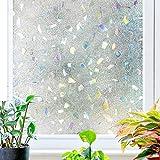 TT&CC Gefrostet UV ablehnung energiesparende Fenster privatsphäre Film glasmalerei Statische klarsichtfolie Fenster Bildschirm Aufkleber Bad küche Schlafzimmer -A 90x200cm(35x79inch)