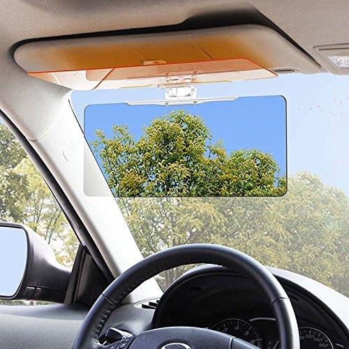 Zhuotop Auto Blendschutz Sonnenblende klappbar Tag- & Nacht Blende, 30X13cm
