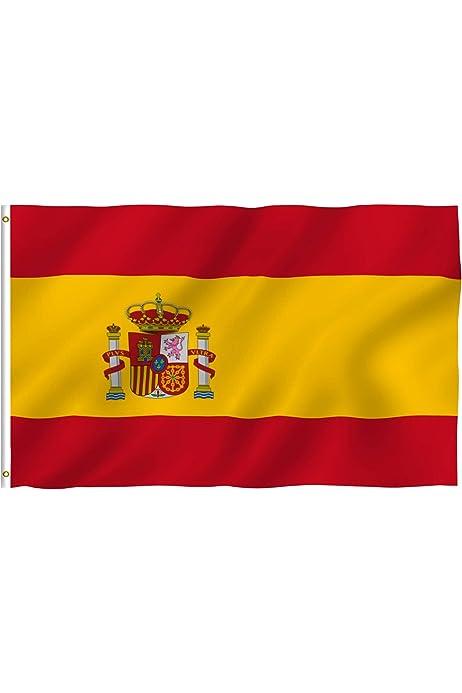 Cartera Bandera de España de Hombre en Piel de Ubrique: Amazon.es ...