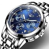 Montre, Montre Homme Luxe Classic Acier Analogique Quartz Chronographe Calendar Montre