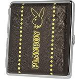 Playboy Zigarettenetui / Zigarettenbox Aus Aluminium - Playboy Neon Design - für 20 Zigaretten (Schwarz)