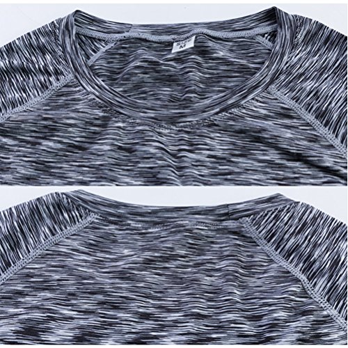Zhhlinyuan Sports Womens Fitness Quick Dry Long Sleeve T-Shirt Gym Shirt Yoga Tops Black