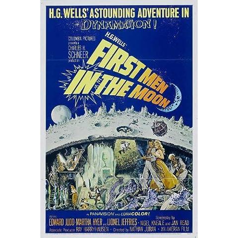 Los primeros en la luna Póster de película B 27 x 40 - 69 cm x 102 cm Martha Hyer en Edward Judd Lionel Jeffries Peter Finch Erik