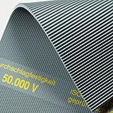 Isoliermatte 50.000 Volt   4,5mm   1m² 1,2 x 0,83m [Größe wählbar] VDE 0303 Gummimatte   Feinriefenmatte