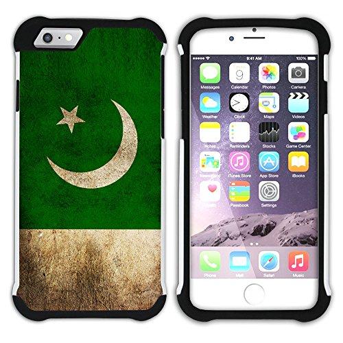 Graphic4You Vintage Uralt Flagge Von China Chinesisch Design Hart + Weiche Kratzfeste Hülle Case Schale Tasche Schutzhülle für Apple iPhone 6 Plus / 6S Plus Pakistan Pakistanisch