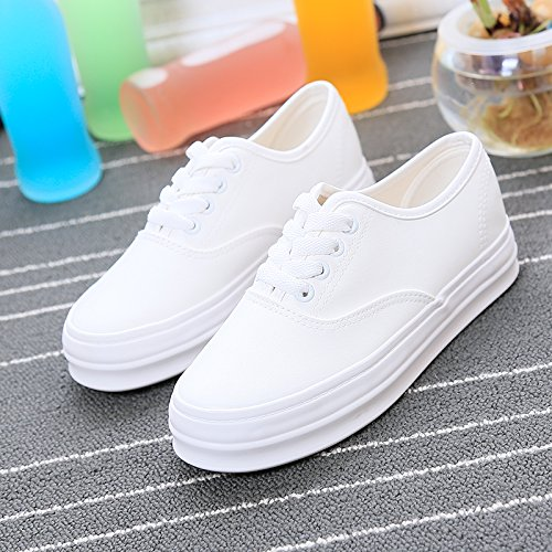 Wuyulunbi@ Scarpe bianche scarpe con suole di scarpe Bianco