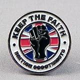 Emaille Badge Pin Northern Soul Faith British Motorroller Vespa, Lambretta, Union Jack