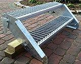 Stahltreppe Aussentreppe Wangentreppe verzinkt 2 Stufen GH 30-40 cm 2-120 Z