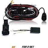 AFTERPARTZ D4 fernbedienter Schalter Kabelbaum für LED Arbeitsscheinwerfer (2 Stück Lampen), R2 3,5M F2 Fernbedienung