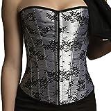 ANGELYK corsets habillés - Corset Dressed Quality CHIC Negro Blanco Gris Ballestas Acero Espiral Nuevo - 50/52 (5-6XL), Multicolore