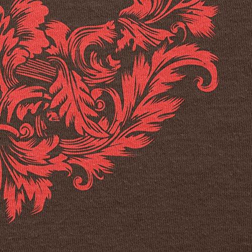 Texlab–Floral Rebel Logo–sacchetto di stoffa Marrone