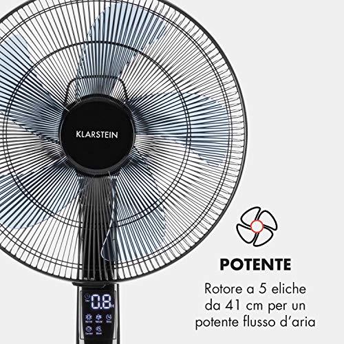 KLARSTEIN Storm Tower /• Ventilatore /• 3 Modalit/á di Ventilazione /• 6 Velocit/à /• Display LED /• Pannello di Controllo Touch /• Oscillazione Commutabile di 80 /°/• incl Telecomando7 /• Nero
