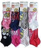 les minions Damen Socken Gr. 36/41, Pack de 6 socquettes assortiment 1