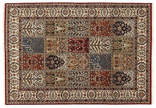 CASPIAN GHOM echter klassischer Orient Felderteppich handgeknüpft in rot-beige, Größe: 250x300 cm -