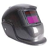 masque de soudure - SODIAL(R)Masque De Soudure Cagoule Casque Soudage Solaire Automatique(Utiliser Energie Solaire pour Recharge)Accessoire de Protection de Visage