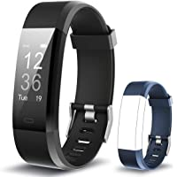 Muzili Smart Fitness Band IPX7 Waterproof Fitness Tracker Watch with Heart Rate Sleep Monitor 14 Exercise Modes Activity Band GPS Route Tracking USB Quick Charge for Men Women