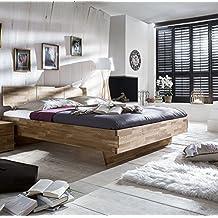 De madera maciza de cama de madera de ambientador superficie de apoyo: 180 x 200 cm, colour: roble salvaje al aceite