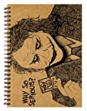 #2: Labartry's Artist Sketch Book Wiro Bound A5 - 60 Pages (The Notorious Joker, Batman), Brown Cover
