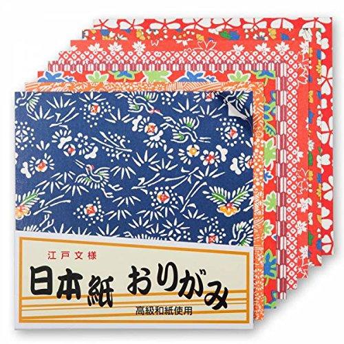 Zen Minded Japanische Origami-Papier 40 Qualität Große Washi Blätter - 14,5cm Mit Verschiedenem Traditionellem Design